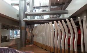 Showcase of HVAC inside ASB building