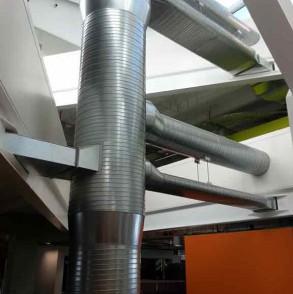 HVAC system inside ASB building