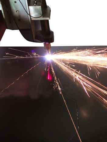 Welding picture with sparks